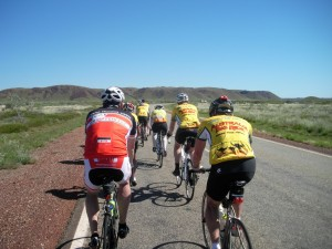 Riders on the way to Port Hedland