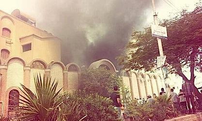 Orthodox Church in Suhag under attack.