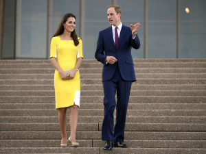 The Duke and Duchess of Cambridge will sign the First Fleet Bible on Sunday at St Andrew's Cathedral.