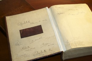 The First Fleet Bible and its royal signatures.
