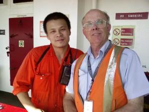 Wang (left) and Ian
