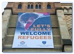 Melbourne's St Pauls Cathedral's prophetic poster