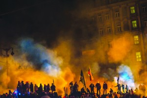 Protests turn into violent clashes in Kiev,January 2014. The Hillsong church is close to the main protest area. Image: Flickr/Sasha Maksymenko