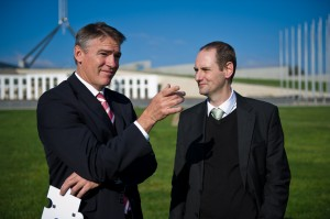 John Beckett and Rob Oakeshott_Voices for Justice 2012