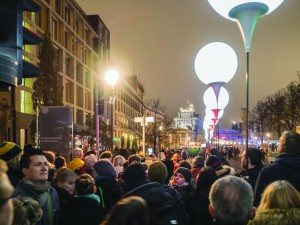 In 2014, thousands of illuminated balloons lit up the 15km where the Berlin Wall once stood, celebrating 25 years since its fall.