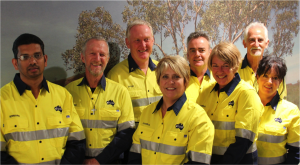David Bradbury (third from left) with the rest of the Fortescue Chaplains.