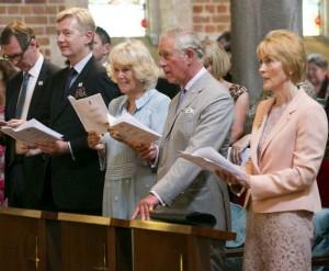 Prince Charles and Camilla at St. George's Anglican Church, Perth. Credit: Perth Cathedral.