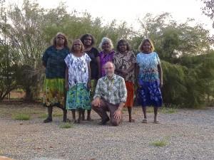 Featured image: Part of the Pitjantjatjara translation team. From left: Nyunmiti Burton, Wanatjura Lewis, Murika Ingkatji, Nyurpaya Burton, Paul Eckert, Lillian Wilton, Leah Brady.