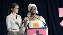 Executive Director of UN Women Phumzile Mlambo-Ngcuka and Emma Watson