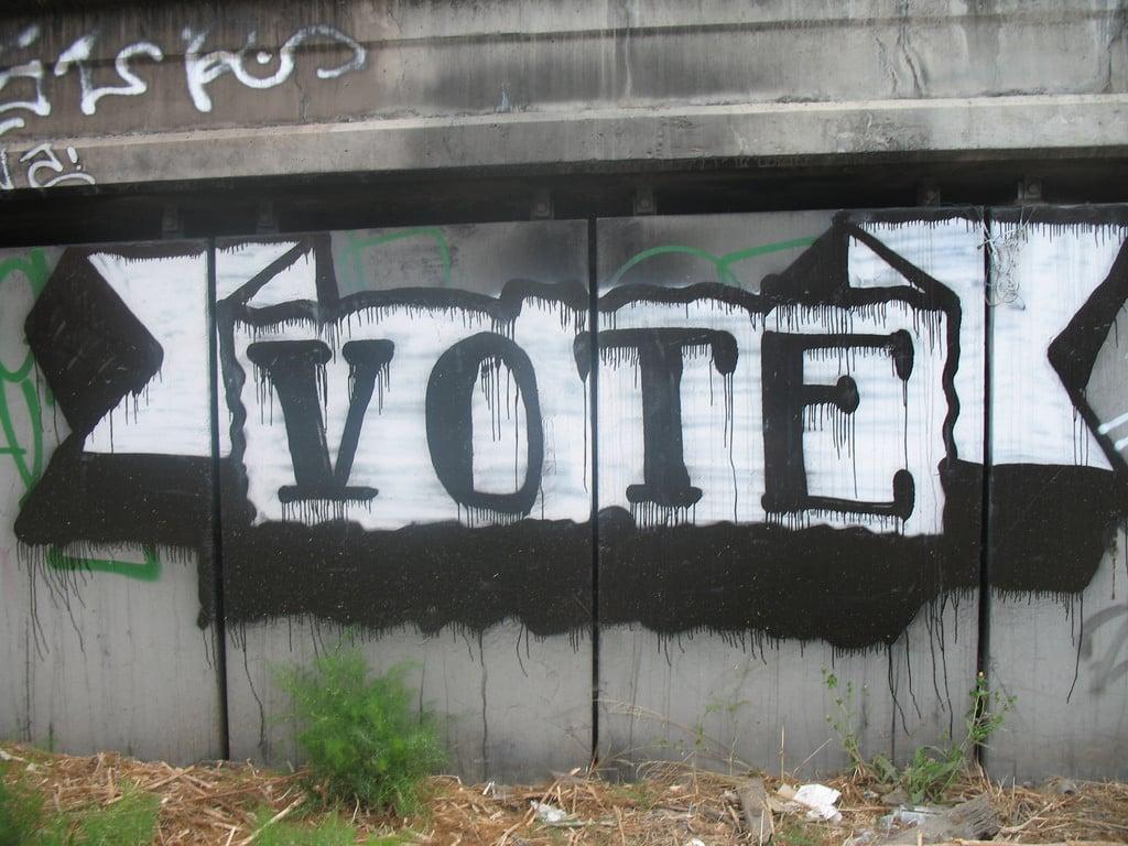 Vote in graffiti