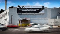 An anti-religion in schools billboard in VIC