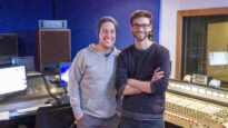 Scott Groom and Andy Judd working together on a new worship song
