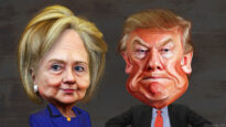 Hillary Clinton vs. Donald Trump - Caricatures