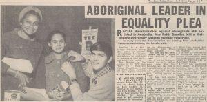 1967 Melbourne Sun Newspaper story on Aboriginal leader Faith Bandler