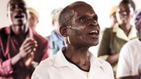 The gospel makes a difference: a group of HIV-affected people worship together in Malawi.