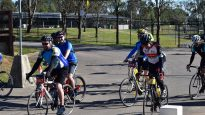 Cyclists take part in Ride for Refugees in Sydney in 2015.