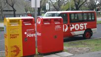 Going Postal: for millennials these steel cabinets are post boxes, letters go in at the slot at the top.