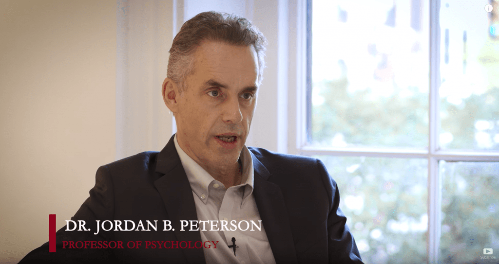 Jordan Peterson, professor of Psychology at the University of Toronto.