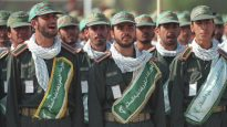 Ali Khamenei with the Revolutionary Guard Corps and Basij volunteer militia