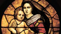 Stained Glass Mary Jesus