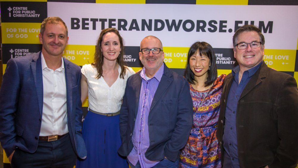From left: Simon Smart, Natasha Moore, Allan Dowthwaite, Justine Toh and John Dickson at the film premiere