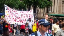 Protest against Aboriginal deaths in custody