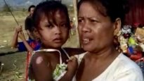 This little girl survived for 12 hours buried under mud in Palu but lost her mother.