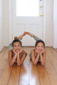 Josephine Lau and Alyssa Mak, founders of Grace x Strength Christian yoga.