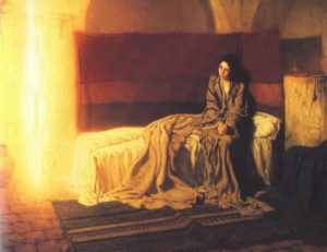 One of the artworks in Mike Frost's Advent series – 'The Annunciation' by Henry Ossawa Tanner.