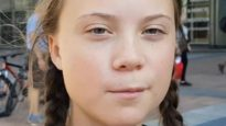 Swedish teenage climate activist Greta Thunberg, who has inspired today's global climate strike.