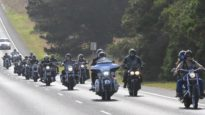 Bikers rally at John Smith Funeral