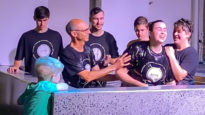 Teagan Fuz is baptised at Newlife Church on the Gold Coast.