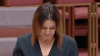 A tearful Senator Jacqui Lambie supports Medevac law repeal.