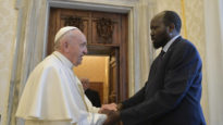 Pope Francis meets South Sudan president salvation Kiir