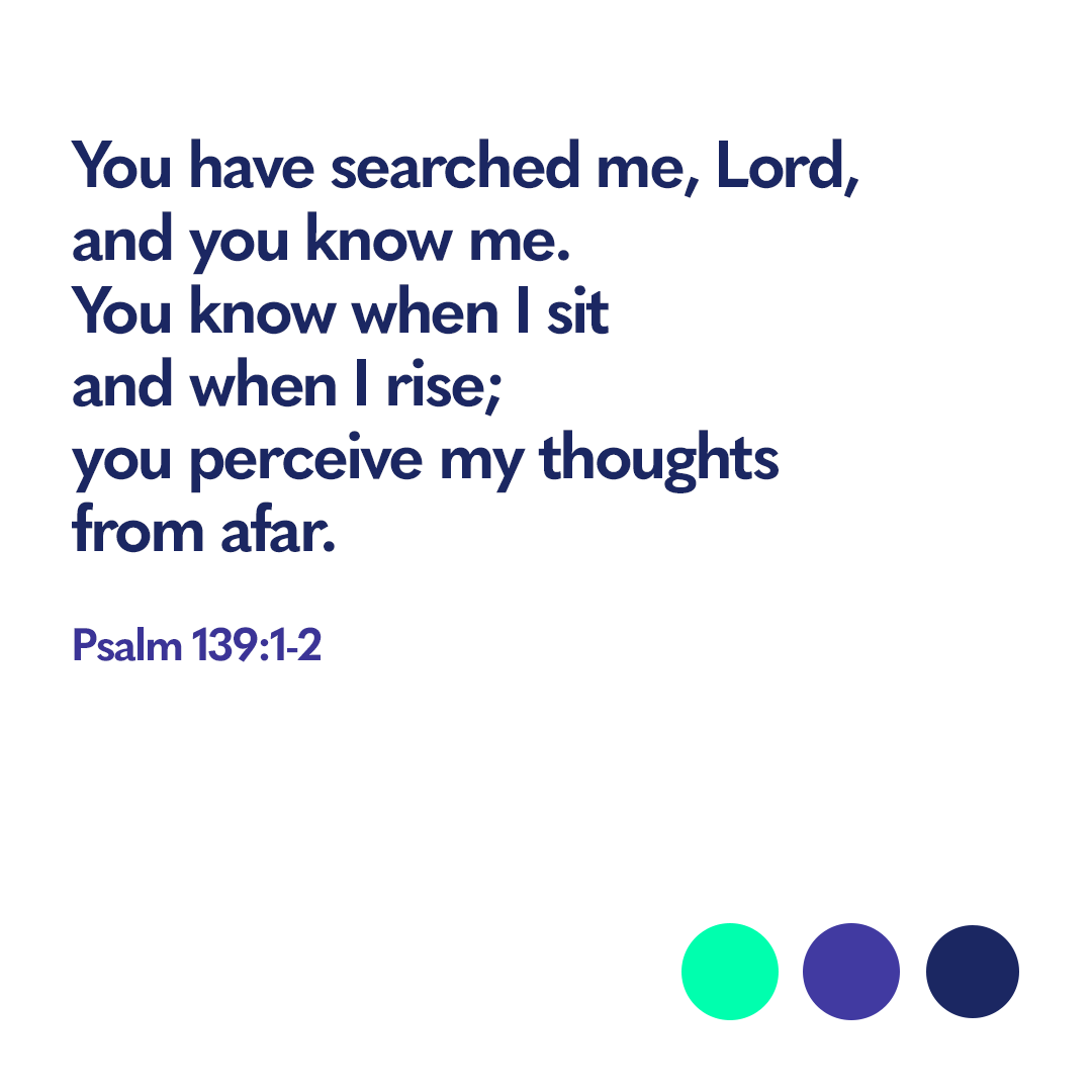 Bible verse Psalm 139:1-2