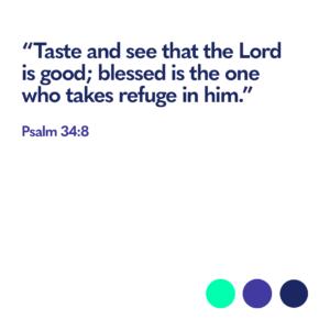 Bible verse Psalm 34:8