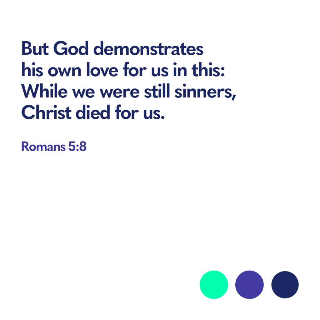 Bible verse Romans 5 8