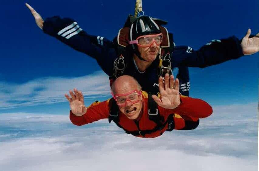 Dave Vincent skydiving