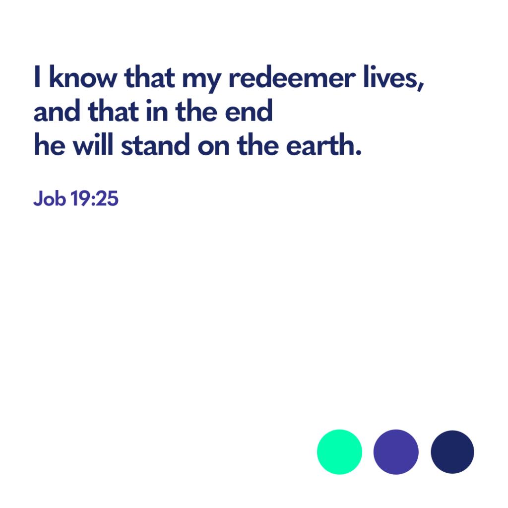 Bible verse Job 19 25