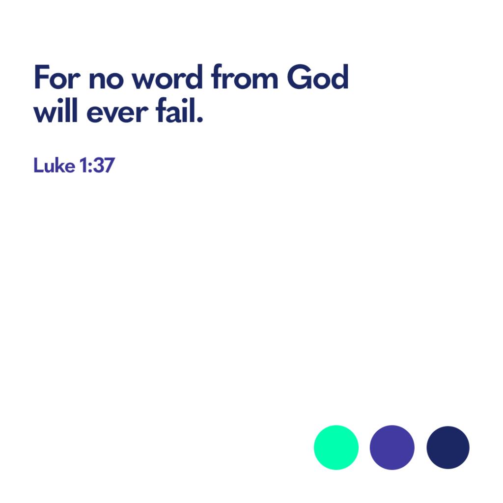 Bible verse Luke 1 37