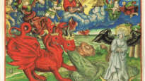 Dragon hurls water after the 'Woman of the Apocalypse'