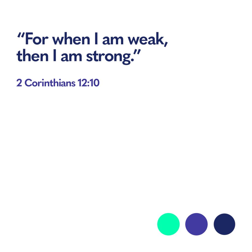 Bible verse 2 Corinthians 12 10