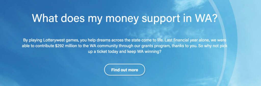Lotterywest screen shot