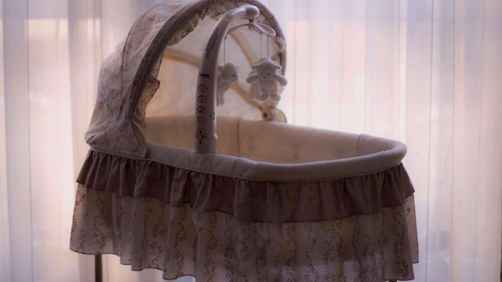 Empty baby cradle