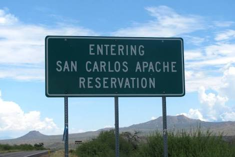 San Carlos Apache Reservation sign