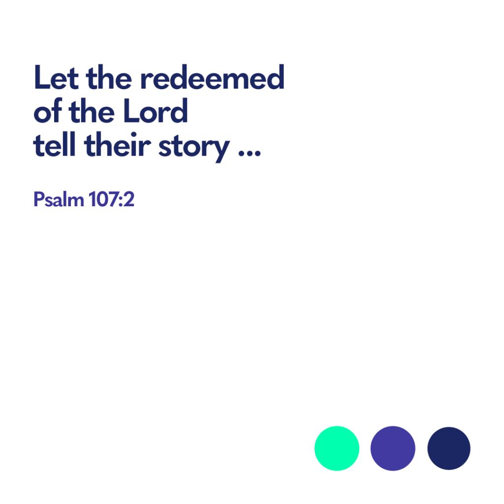 Bible verse Psalm 107 2
