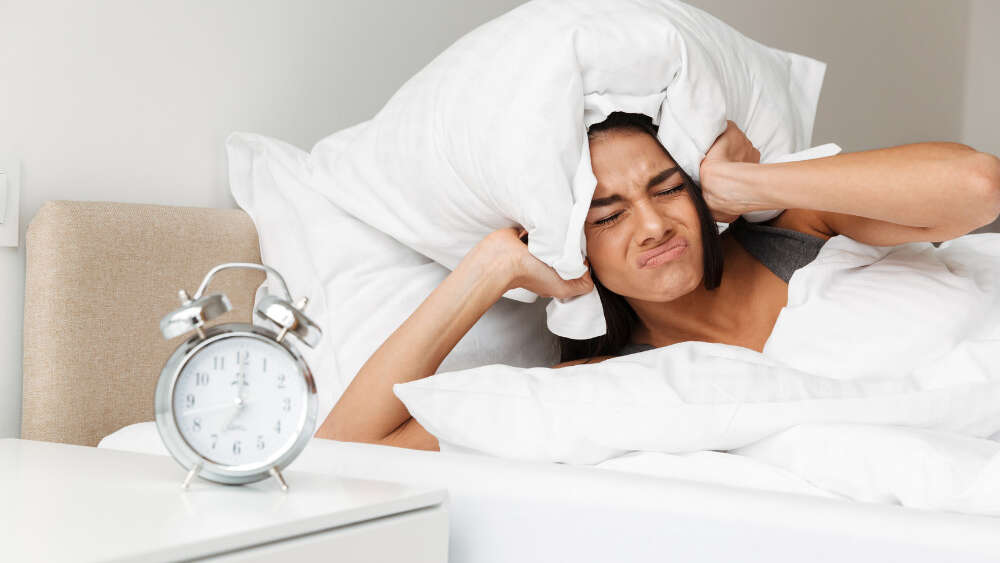 Woman dreading getting up