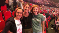 Christine Caine with Eternity writer Bec Abbott and her daughter Caitlin