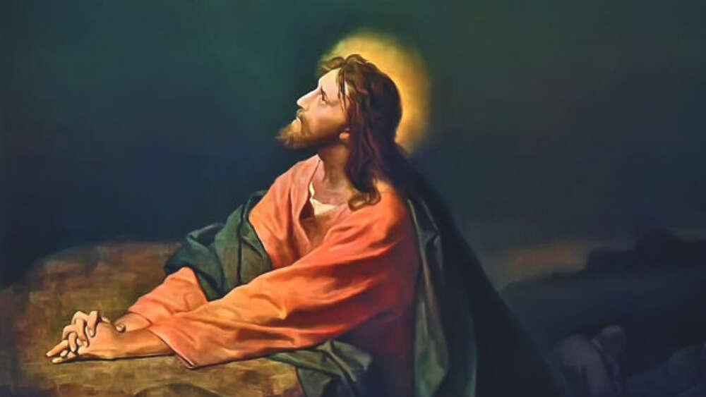 Christ praying in Gethsemane