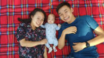 Jo Lee with baby M and husband Jono
